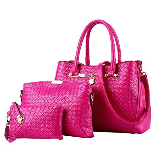 Pu 3pc Borsa Bag Da A Tracolla F In Shopping Mano Pelle A Donna Nuova Borsa COxqwdUXUF