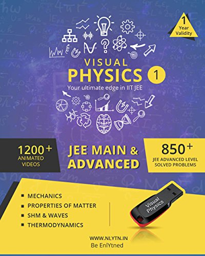 Nlytn Visual Physics 1 for IIT JEE - Animated Video Lecture Course (Pendrive)- Covers complete JEE syllabus of Std XI