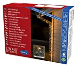 Konstsmide 3644-800 Micro LED Lichterkette/für Außen (IP44) / VDE geprüft / 24V Außentrafo / 400 bernsteinfarbene Dioden/schwarzes Kabel