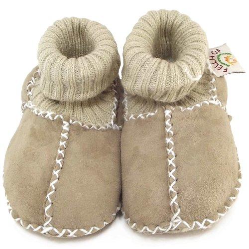 Fellhof Balu, Chaussures souples bébé gris/nature