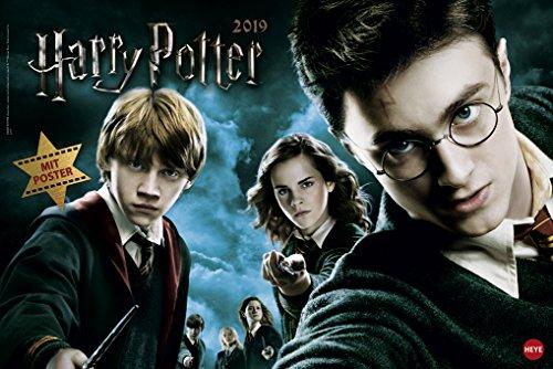 Harry Potter Broschurkalender XL - Kalender 2019 - Wandkalender - 45cm x 30 cm (offen 45 cm x 30 cm)