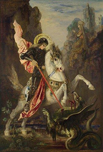 Das Museum Outlet-Gustave Moreau-Saint George und der Drache-Größe A3Poster Print Online