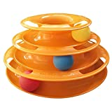 Cat Toys, Pertaka Interactive Cat Ball Toy Cat & Gattini Giocattolo con Interactive Intelligence Track Ball Tower Kitty Toys