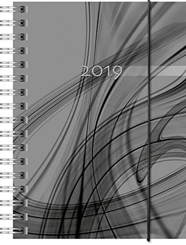 Brunnen 107328090 Taschenkalender Modell 732 Opus, 2 Seiten = 1 Woche, 100 x 140 mm PP-Einband schwarz, Kalendarium für 18 Monate