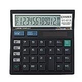 AOLVO Calculator, 12-Digit Dual Power Nero elettronico calcolatrice da Tavolo con Ampio Display LCD e...