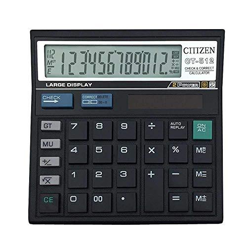 AOLVO Calculator, 12-Digit Dual Power Nero elettronico calcolatrice da Tavolo con Ampio Display LCD e Pulsanti Grandi per Scuola Ufficio Business-Solare/Batteria Basic calcolatrice