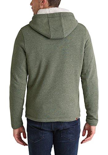 BLEND Theodor Herren Kapuzenpullover Hoodie Sweatshirt mit Teddyfutter aus hochwertiger Baumwollmischung Ivy Green (77026)
