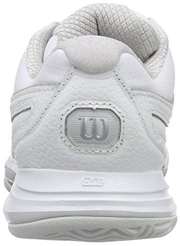 Wilson Nvision Premium W, Chaussures de Tennis femme Multicolore - Mehrfarbig (WHITE/WHITE/STEEL GREY)
