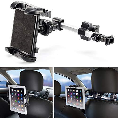 Supporto auto, ikross universale supporto poggiatesta per tablet da 7-12 pollici, poggiatesta schienale da sedile posteriore allungabile, regolabile e 360 gradi di rotazione, nero
