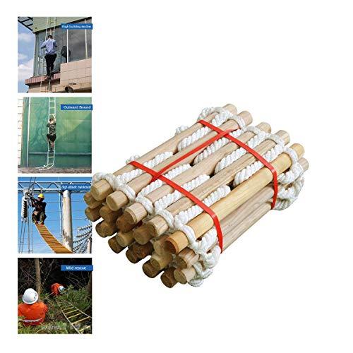 FIREDUXYL Strickleiter Seilleiter Kletterturm Spielturm Kletterseil Spielzeug für Kinder und Erwachsene Outdoor und Indoor,10m/32ft
