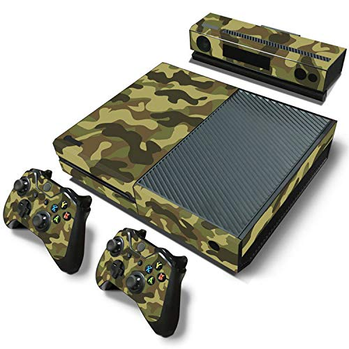 Price comparison product image WELLDRESSED Camouflage Game Cosole Decal Skin Stickers For Xbox One Console Vinyl Skin+2PCS Controller Stickers, 2