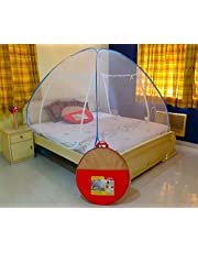 Athenacreations Double Bed Foldable Mosquito Net (Blue) ,King