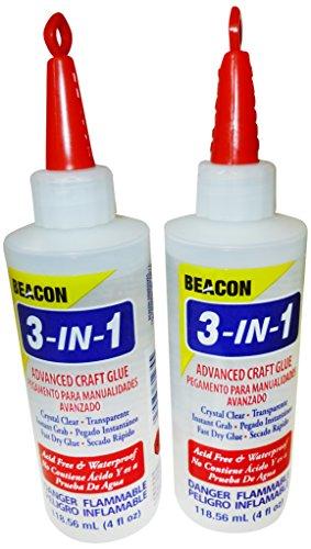 Beacon Klebstoffe 118 ml, 3 in 1 moderner Kraftkleber, 2-teiliges Set