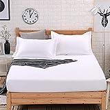 JUNDY Protector de colchón Impermeable de Funda de colchón hipoalergénica y...
