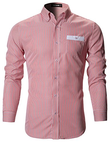 FLATSEVEN-Mens-Slim-Fit-Classic-Dress-Shirts