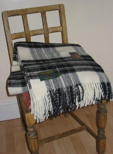 51EQwIVia5L - Dress grey stewart tartan British made wool picnic blanket travel rug throw