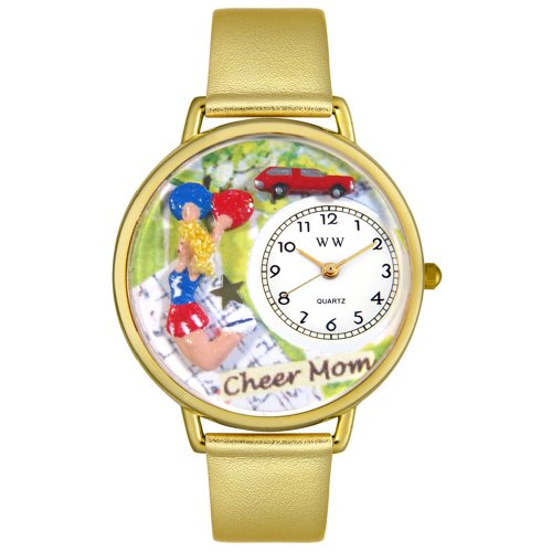 whimsical-watches-cheer-mom-gold-leather-and-goldtone-unisex-quartz-watch-with-white-dial-analogue-d