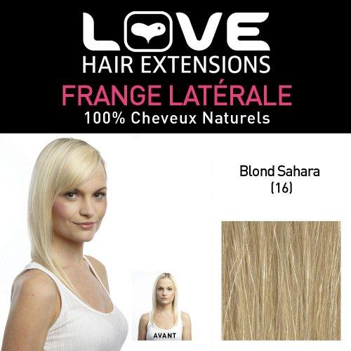 Love Hair Extensions - LHE/FRA1/QFC/CISF/16-100% Cheveux Naturels - Frange Latérale - Couleur 16 - Blond Sahara