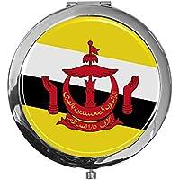 """metALUm - Extragroße Pillendose in runder Form""""Flagge Brunei Darussalem"""" preisvergleich bei billige-tabletten.eu"""