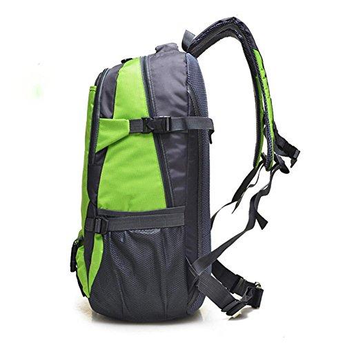 Sport all'aria aperta zaino da viaggio, zaino da viaggio per il tempo libero di grande capacità, l'alpinismo zaino grande capienza, il sacchetto di spalla di corsa di grande capacità impermeabile, in  green
