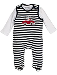 SALT AND PEPPER Baby-Jungen Strampler NB Playsuit Bear Stripe