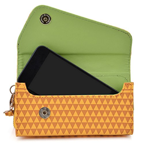 Kroo Pochette/étui style tribal urbain pour Sony Xperia Sony Xperia L Rose jaune