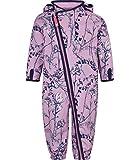 Racoon Baby-Mädchen Schneeanzug Fleur Softshellanzug Wassersäule 5.000, Mehrfarbig (Lavender Lav), 86