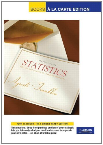 Statistical Methods for the Social Sciences, Books a la Carte Edition (4th Edition) by Alan Agresti (2009-09-04)