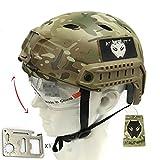 Ejército estilo militar SWAT casco Fast BJ tipo con gafas para Airsoft Paintball Multicam MC