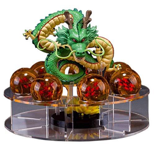 Dominiti Dragonball Z Shenron mit 7 Dragonballs, Anime Figur, Action-Figur Shenlong Son Goku Sajajin Sammelfigur
