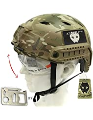 Ejército estilo militar SWAT combate Base Jump Bj tipo Casco Fast Multicam MC para Tactical Airsoft Paintball