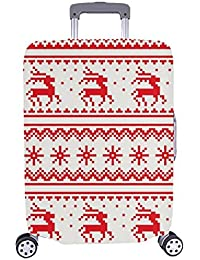 Christmas Franja Patron Patron Spandex sin Costuras Folklore Escandinavo Caso Viaje Equipaje Trolley Maleta de 28