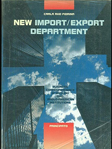 New import/export department. Per le Scuole superiori