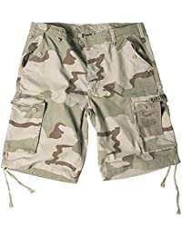 Mil-Tec Paratrooper Cargo Pantalones Cortos Lavados 3-Colour Desert tamaño S