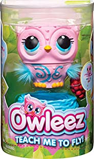 Owleez Flying Baby Owl Interactive Toy with Lights and Sounds (Pink) for Kids Aged 6 and Up