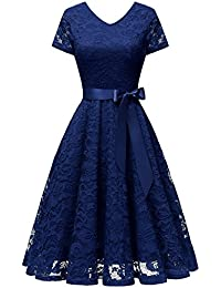 Suchergebnis auf Amazon.de für: spitzenkleid blau: Bekleidung