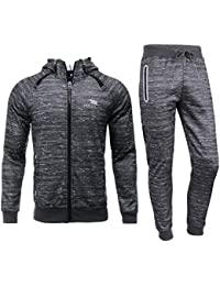 best website 6d54a 2d125 AIRAVATA Homme Ensemble Pantalon de Sport Sweatshirt à Capuche Jogging  Survêtement