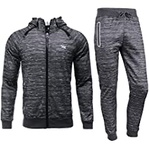 AIRAVATA Men's Tracksuit Sweat Jacket Trousers Sportswear Jogging Fitness Suit