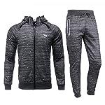 Airavata Herren Trainingsanzug Sportbekleidung Reißverschluss Sweatjacke Jogginganzug