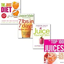 Juice Diet Collection 4 Books Set, (The Juice Diet - The Healthy Way to Lose Weight, The Juice Master Juice Yourself Slim: The Healthy Way to Lose Weight Without Dieting, 7lbs in 7 Days Super Juice Diet & The Top 100 Juices)