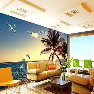 BIZHIGE Benutzerdefinierte Wandbilder 3D Fotos HD Atmosphäre des Mittelmeers Architectural Interior Wallpaper Hintergrund Wand Home Decor Schlafzimmer-330 × 210Cm