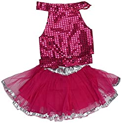 Western Girl Backless Skirt (Pink, 20 Inch)