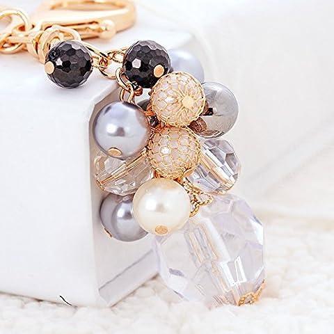 Regalos creativos cristal goteado ornamentos lindo coche hebilla clave dama bolsa llavero colgante