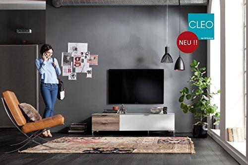 CS Schmalmöbel 45.102.507/036 Highboard Cleo Typ 15, 163 x 50 x 108 cm, schwarz / schwarzglas - 2