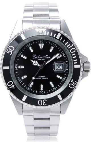 Eichmüller 3410/01 - Orologio subacqueo in acciaio INOX massiccio, 20 ATM