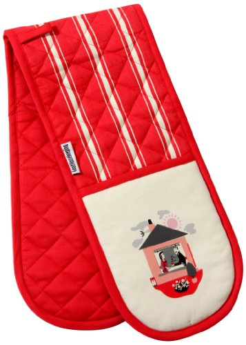 good-housekeeping-institute-doppelter-ofenhandschuh-twill-meal-planner-motiv-rot