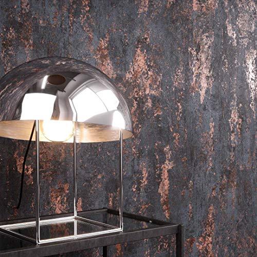 NEWROOM Tapete Anthrazit Putz Beton Architekt Vliestapete Bronze Vlies moderne Design Optik Tapete Struktur Premium Industrial inkl. Tapezier Ratgeber -