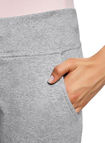 oodji Ultra Damen Jersey-Hose (2er-Pack) Grau (2300M)