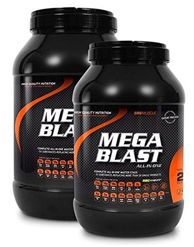 SRS Muscle - Mega Blast XL, 1.900 g, Pfirsich-Eistee | Complete All-in-one Master Stack | ersetzt über 20 Einzelprodukte | deutsche Premiumqualität -