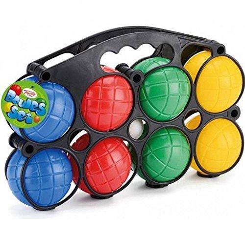 Wilton Bradley Classic Plastic Boule Balls Set - Garden Game | 8 Piece Wilton Garden